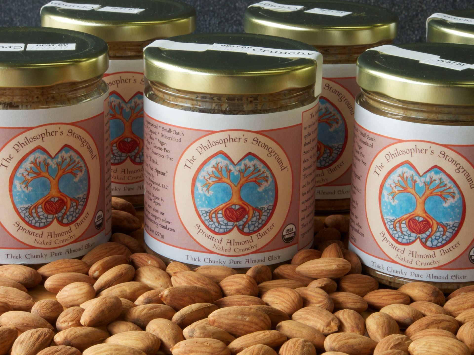 Picture of Sprouted Almond Butter (Small Crunchy) The Philosopher's Stoneground