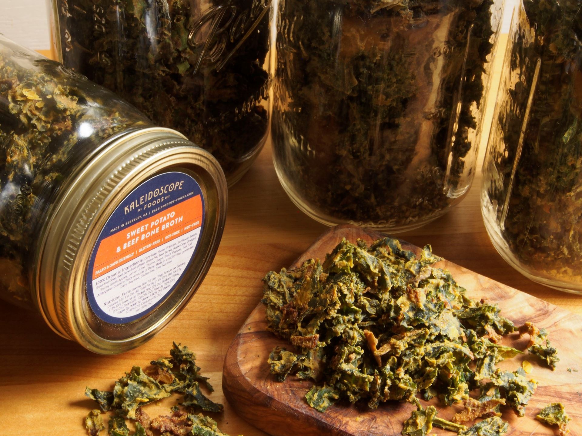 Picture of Kale Chips Quart JAR: Sweet Potato & Beef Bone Broth by Kaleidoscope