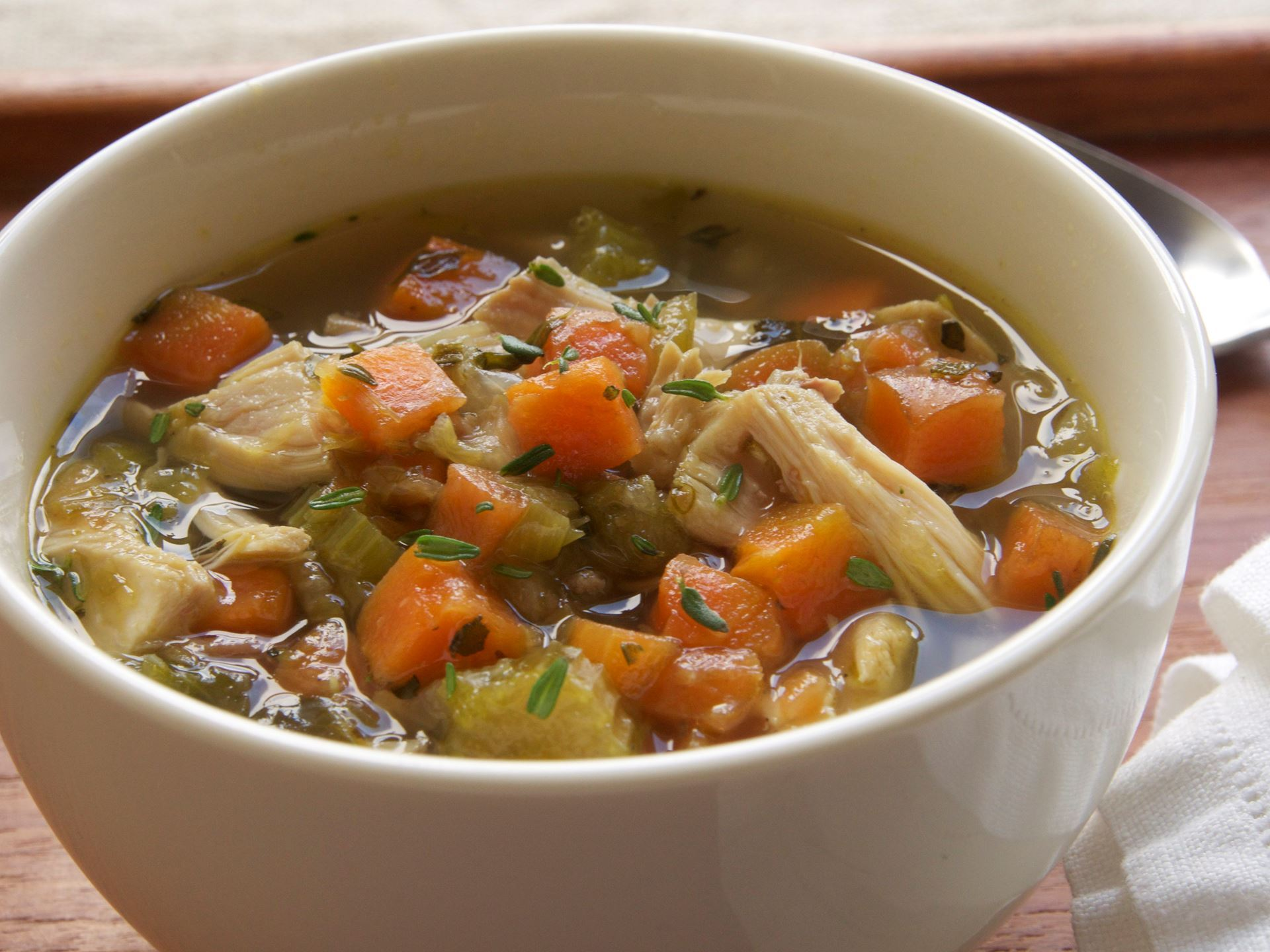 Picture of Frozen -- Chicken Vegetable Soup (Mirepoix) 22 oz.