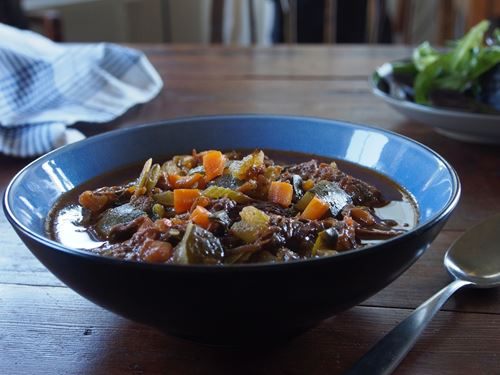 Picture of Frozen -- Hearty  Beef Soup with Seasonal Vegetables 22 oz