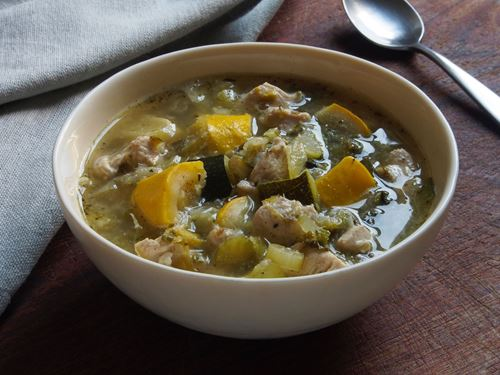 Picture of Frozen -- Chicken-Vegetable Soup with Summer Squash and Chard  22 oz
