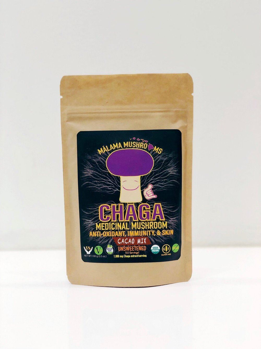 Picture of Malama Chaga hot cacao drink mix