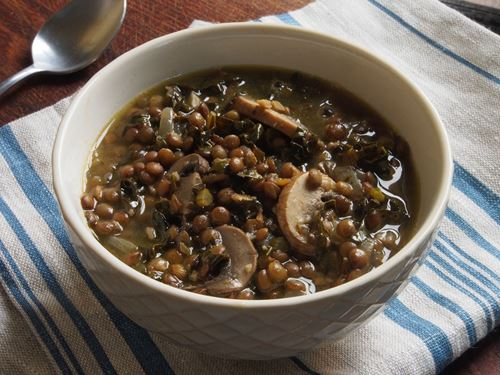 Picture of Frozen -- French Lentil Soup with Mushrooms and Kale (Vegan) - 22 oz