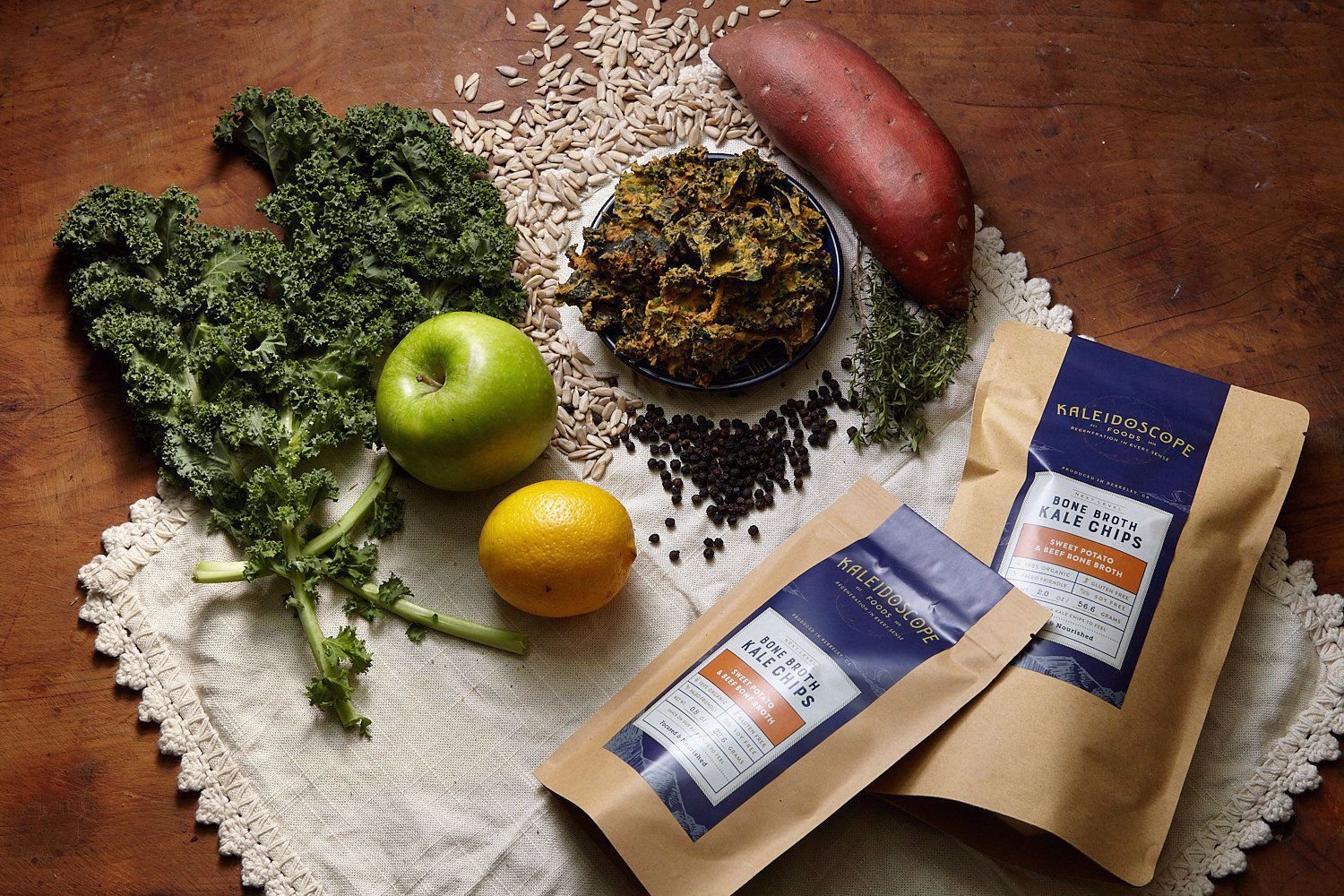 Picture of Kale Chips BAG: Slow Roasted Sweet Potato & Beef Bone Broth by Kaleidoscope