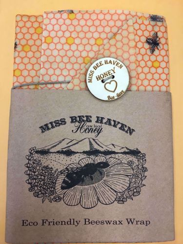 Picture of Miss Bee Haven Beeswax Wrap with Button