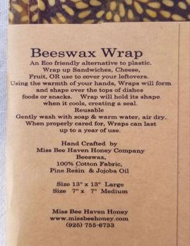 Picture of Miss Bee Haven Beeswax Wrap