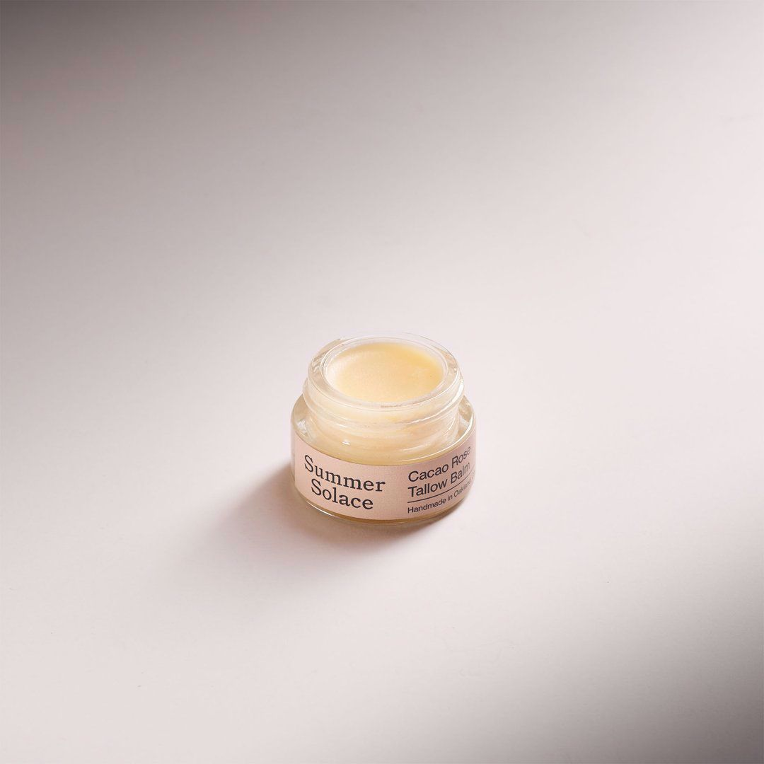 Picture of Summer Solace Cacao Rose Tallow Lip and Cuticle Balm