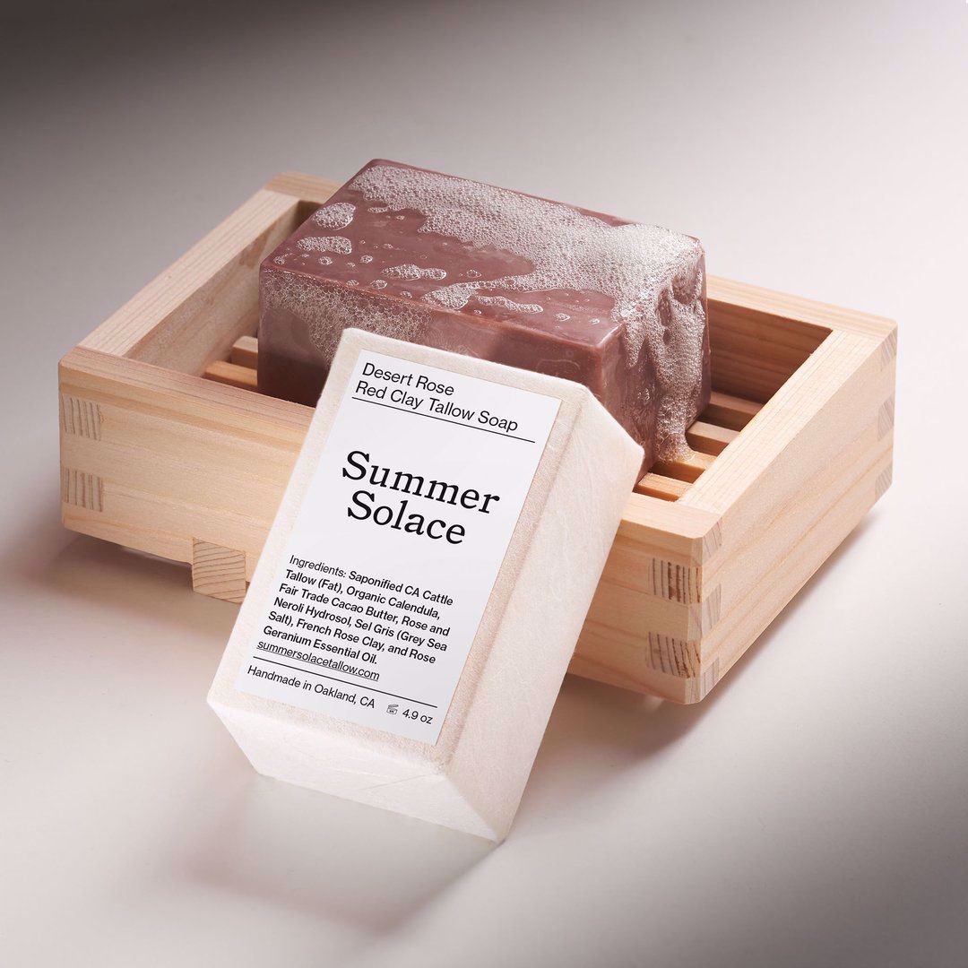 Picture of Summer Solace Desert Rose Red Clay Tallow Bar Soap