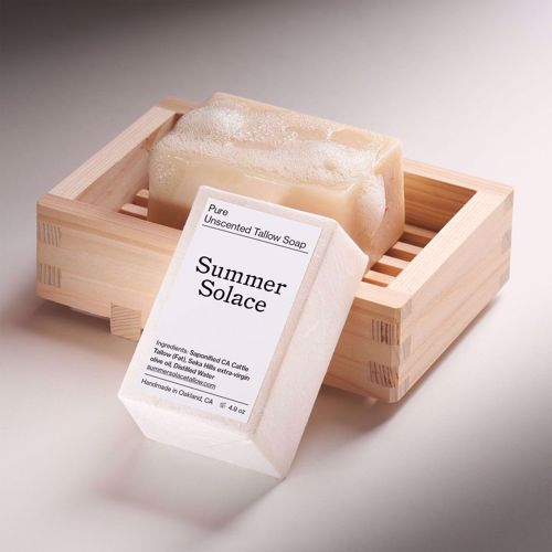 Picture of Summer Solace Pure Unscented Tallow Bar Soap