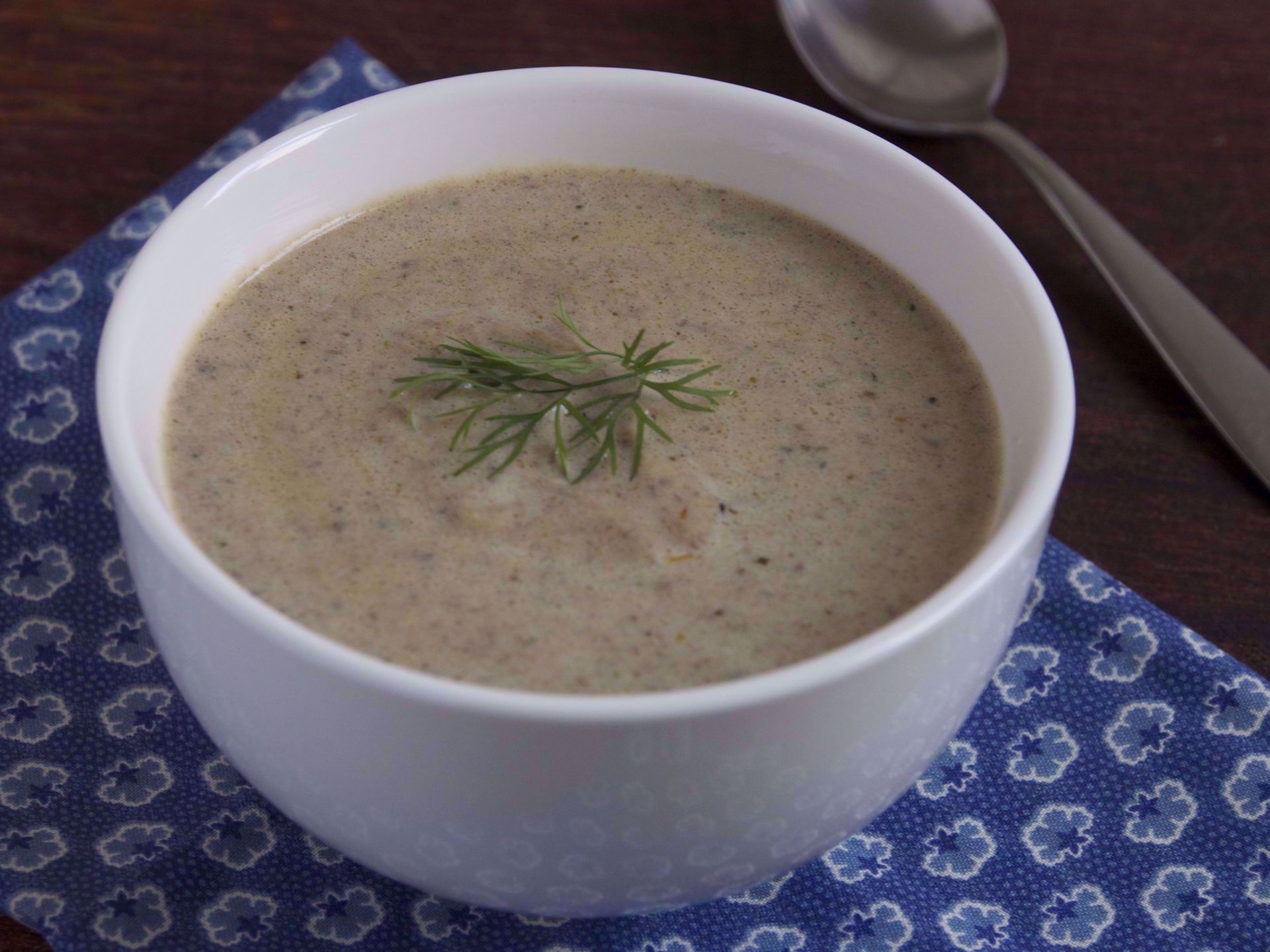 Picture of Frozen -- Creamy Mushroom and Leek Soup