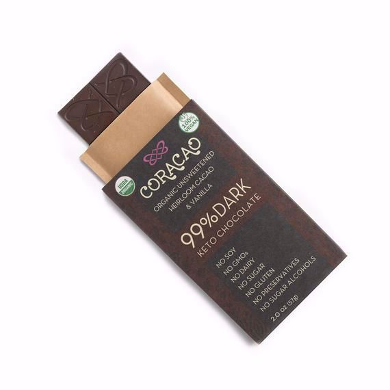 Picture of Coracao Chocolate 99% Keto Chocolate Bar (2 oz)